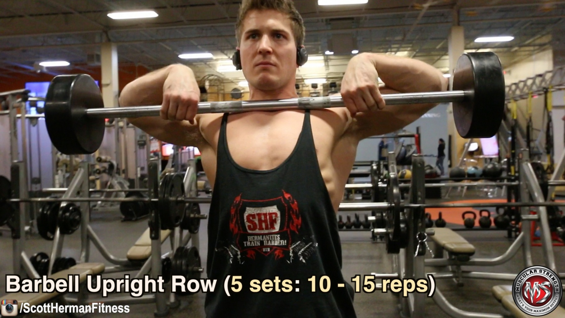 barbell-upright-row
