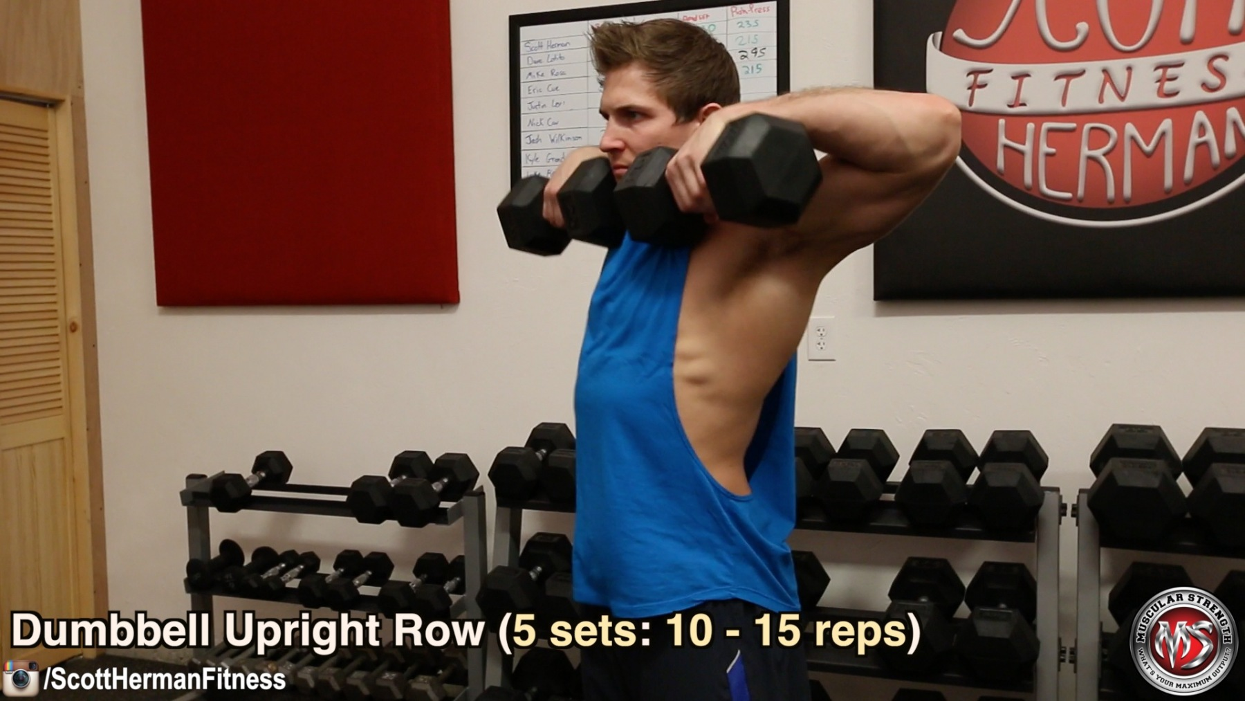 dumbbell-upright-row