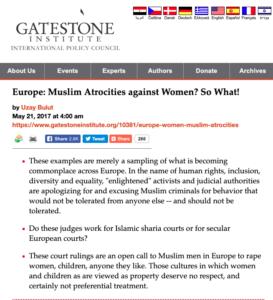 Europe Muslim Atrocities against Women
