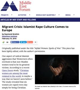 Migrant Crisis Islamist Rape Culture Comes to Europe