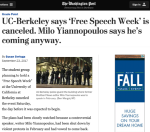 UC-Berkeley says Free Speech Week is canceled