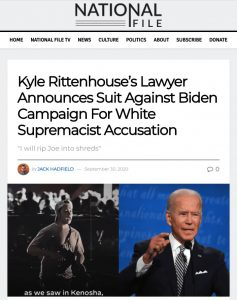 Kyle Rittenhouse's Lawyer Announces Suit Against Biden Campaign For White Supremacist Accusation