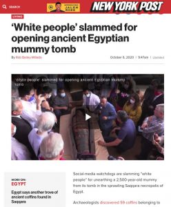 White people slammed for opening ancient Egyptian mummy tomb